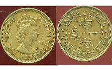 HONG KONG  10 cents ( ten cents ) 1964