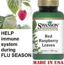 Swanson RED RASPBERRY LEAVES - 380 mg - 100 Capsules - MENOPAUSE AID HEALTH