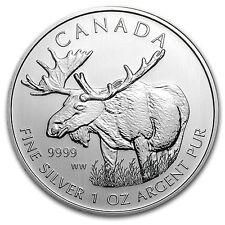 2012 Canada 1 oz Silver Wildlife Series Moose - SKU #67204
