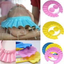 1*Adjustable Child Kid Baby Shower Cap Bathing Cap Washing Hair Hat Random Color