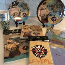 Pirate Treasure Map Party Tableware and Accessories