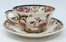 Masons Blue Mandalay Rare 4 Inch Diameter Tea Cup And Saucer