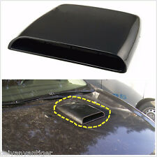 Universal Car Decorative Air Flow Intake Hood Scoop Vent Bonnet Cover Black 1pcs