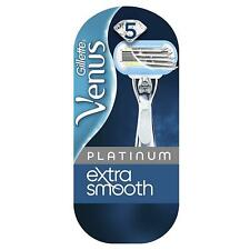 Gillette Venus Platinum Extra Smooth Women's Razor & 1 Blade with Metal Handle