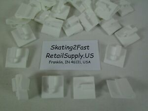 Snap Clip White Hook Holds up to 1 lbs. Grid Tile Drop Ceiling Signage Banners