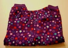 Girls Fleece Pants 3T Star Print Purple