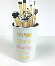 MAY YOUR DAY Be as FLAWLESS as Your MAKEUP Cosmetic Brush Organizer Cup Storage