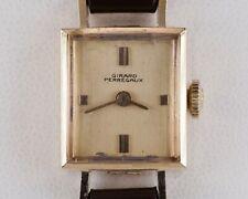 Girard-Perregaux 14k Oro Amarillo Mujer Correa Manual Reloj W/ Correa Piel