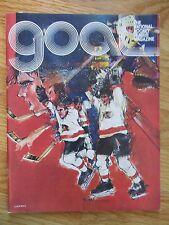 GOAL BOSTON BRUINS vs CHICAGO BLACK HAWKS Mar 23, 1978 Program GILBERT ESPOSITO