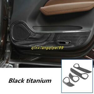 For Volvo XC60 2018-2019 Black Steel Door Anti-Kick Anti-Dirty Guard Cover Trim