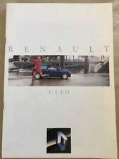 Renault Clio Car Brochure - 1992