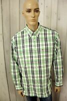 Camicia TOMMY HILFIGER Uomo Shirt Manica Lunga Cotone Chemise Taglia XL