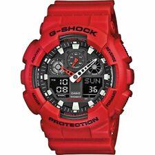 CASIO Uhr Digital  G-SHOCK  GA-100B-4AER rot  NEU