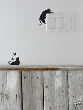Wall Story CAT Removable - Character wall surface decoration set black - I