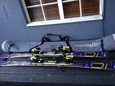 A pair of Salomon Crossmax Engine skis - 162 cm long - S912 bindings