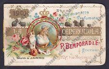 CALENDARIETTO BEMPORAD 1901 LA CENERENTOLA compilato da JARRO old calendar