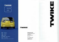Twike car range (made in Germany) Prospekt / Brochure _Genf / Geneva 2019