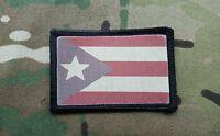 Puerto Rican Rico Flag Desert Subdued Hook Morale Patch 2x3 Multicam Boricua