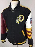 VTG 90s Jeff Hamilton Washington Redskins Mens Leather Embroidered Jacket L