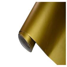 Gold Auto Folie matt breit BLASENFREI selbstklebend Klebe Folie 50x152cm W9T6