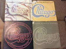 "Joblot - CHICAGO - 4 x 7"" Vinyl soft rock 45rpm Records ALL PLAY TESTED"