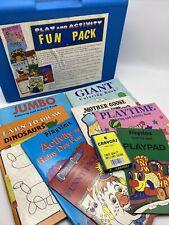 Vtg 1993 Bernie Bear Books Retro Play Activity Fun Pack Color Draw Dot Case