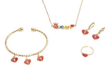 Childrens Jewellery Gift Set 18K Gold Plated Queen Heart Kids Girls Jewelry