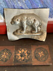 Antique Vintage Early Primitive Standing Bear Chocolate Candy Mold Tin Nice