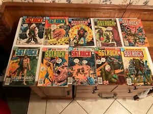 Our Army At War - Sgt. Rock - DC War Comic - Bronze Age - Lot of 10