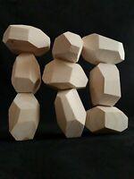 9 Large Tumi Ishi Wooden Rocks | Tumi-Ishi Balancing Game | Wood Blocks to Paint