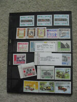Double Sided Sheet Vintage Unused Foreign Postage Stamps Liberia