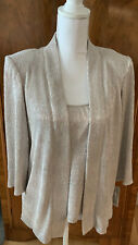 Alex Evenings Ladies 2pc Jacket & Tank Gold Metallic; (New With Tags) Size Small