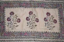 Indian Classic Multi Color 100% Pure Silk Hand Embroidery Kantha Saree Sari