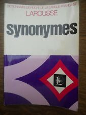 Dictionnaire de Poche de la Langue Française: Synonymes/ Larousse, 1977