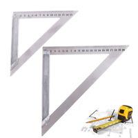 90 ° rechtwinkliges Edelstahl-Dreiecklineal, Holzbearbeitungsmessgerät