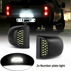 Full White LED License Plate Light Kit For Silverado GMC Sierra 1500 2500 3500
