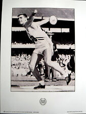 OLYMPIC  POSTER - AL OERTER - DISCUS - Track & Field