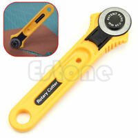 Rotary Cutter 28mm Circular Cut Blade Patchwork Fabric Leather Craft Yellow