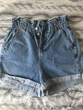 Beautiful Topshop Ladies Paperbag Shorts Tall Size 10 ( Worn Once)