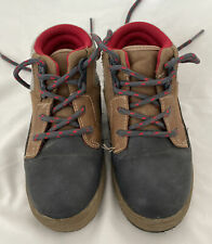 Osh Kosh B'Gosh Size 10 Toddler Boys Shoes Boots Brown Red Gray