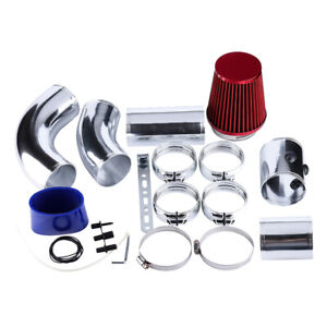 """3"""" 76mm Multiple Combined Cold Car Air Intake System Pipe Kit + Filter Universal"""