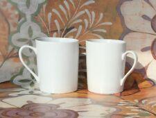 Set of 2 NEW WHITE MUGS for tea coffee mug cup - 9 oz