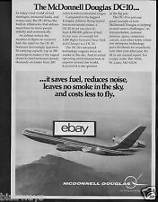 MCDONNELL DOUGLAS AIRCRAFT 1974 DC-10 SAVES FUEL-REDUCES NOISE-SMOKELESS AD