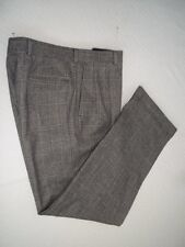 "Burberry Gray Plaid Pleated Front Flannel Wool Dress Pants W 34"" x 31"" L"
