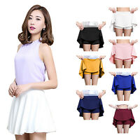 Women High Waist Mini Skirt Winter Sports Pleated Skirt Under Safety Shorts