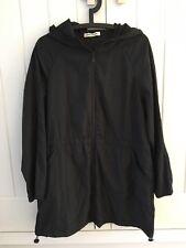 Betty Barclay Ladies Black Lightweight Parka Style Zipped Coat, Size UK 14
