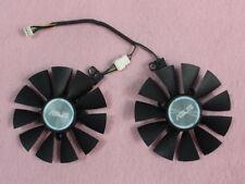 87mm ASUS GTX1060 GTX1070 RX480 Dual Fan Replacement 4Pin PLD09210S12HH 0.4A Q09