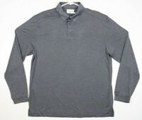 Nicklaus Golden Bear Stay Dri  Mens Grey Large Long Sleeve  Polo Golf Shirt NEW