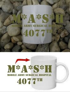 Mash 4077 M A S H 4077th WITH A. S. H. US Army Cup Coffee Mug Haferl #2