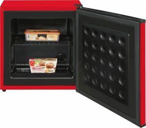 Exquisit Tisch-Gefrierschrank GB40-150E Rot Mini Gefrierschrank Camping WOW